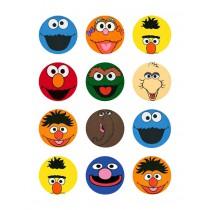 Sesamstraat cupcake 2